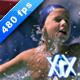 Boys Splashing In Pool - VideoHive Item for Sale
