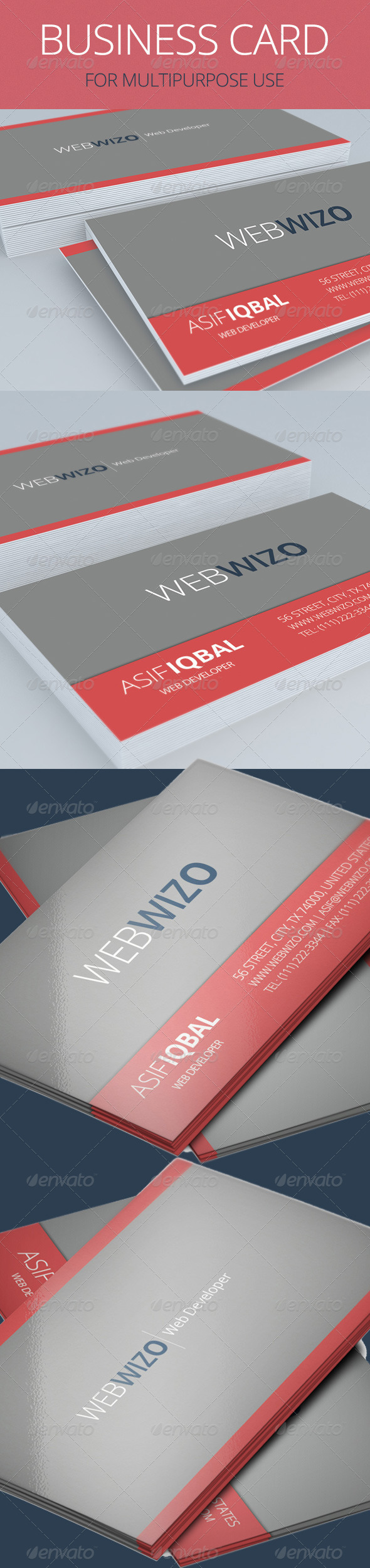 Multipurpose Business Card - Print Templates