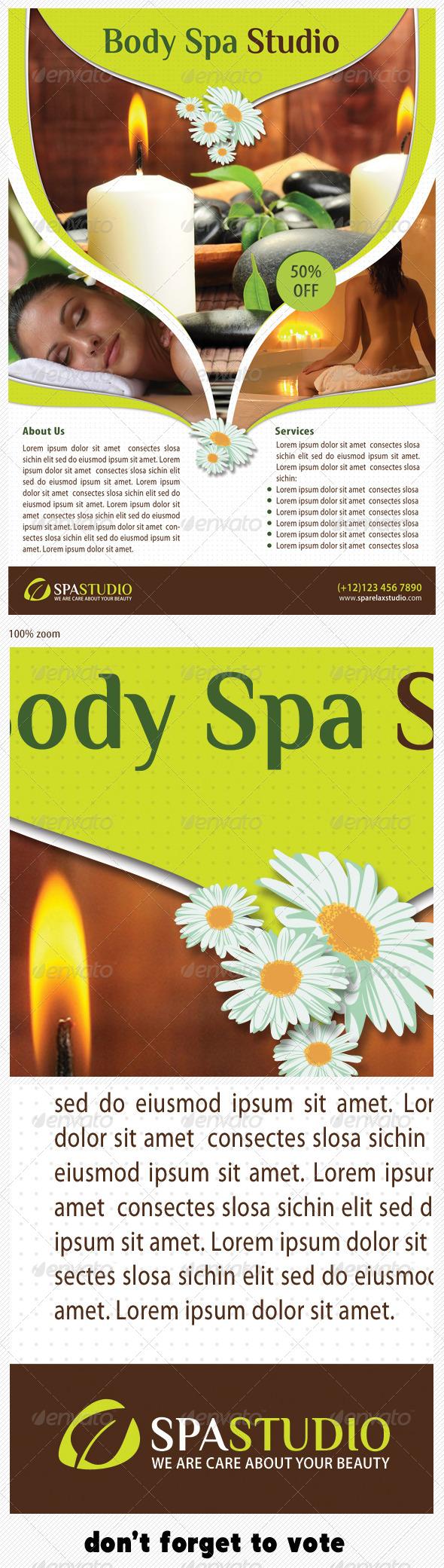 Spa Studio Flyer 09 - Print Templates