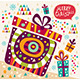 Christmas Card with Gift Box - GraphicRiver Item for Sale