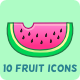 10 Fruit Icons - GraphicRiver Item for Sale