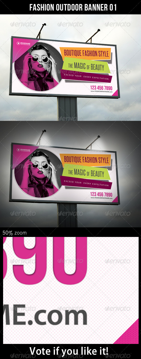 Fashion Outdoor Banner 01 - Print Templates