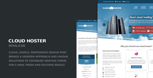 Cloud Hoster – Responsive Hosting Company Theme