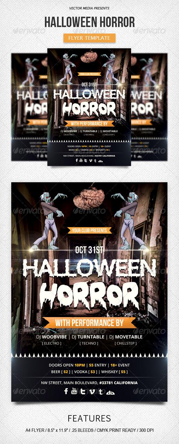 Halloween Horror - Flyer