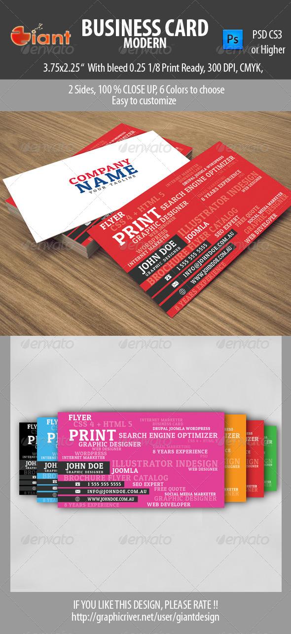 Business Card Modern Business Card Templates & Designs