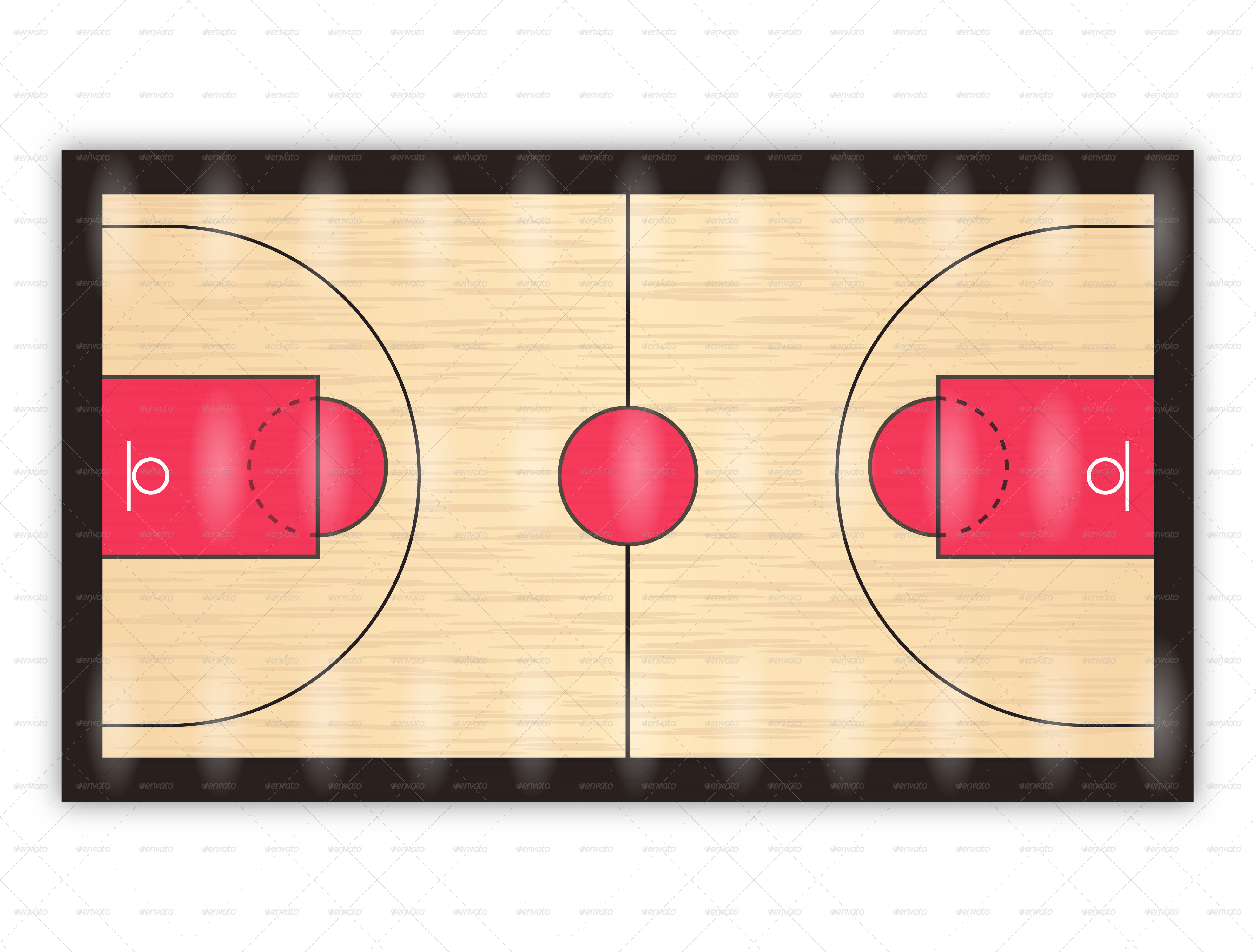 Basketball Court By Dsm Webdesigner Graphicriver