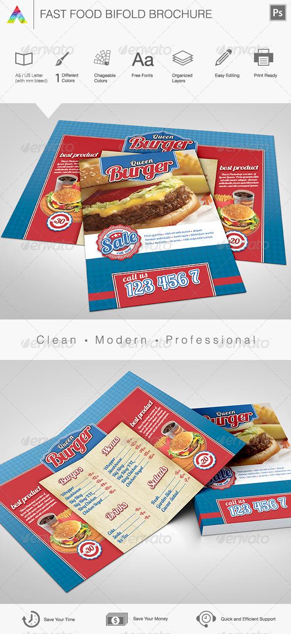 Fast Food Brochure & Menu - Restaurant Flyers