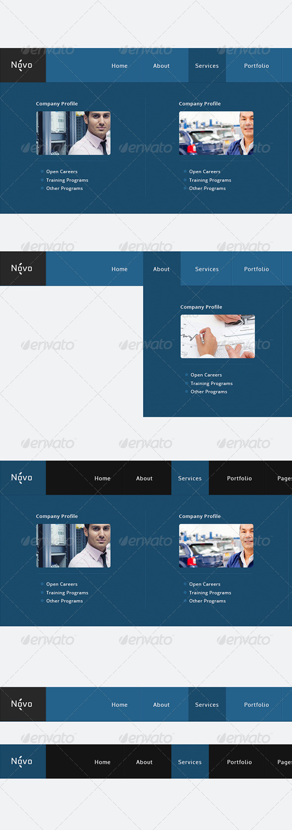 Mega Web Navigation Bars - Navigation Bars Web Elements