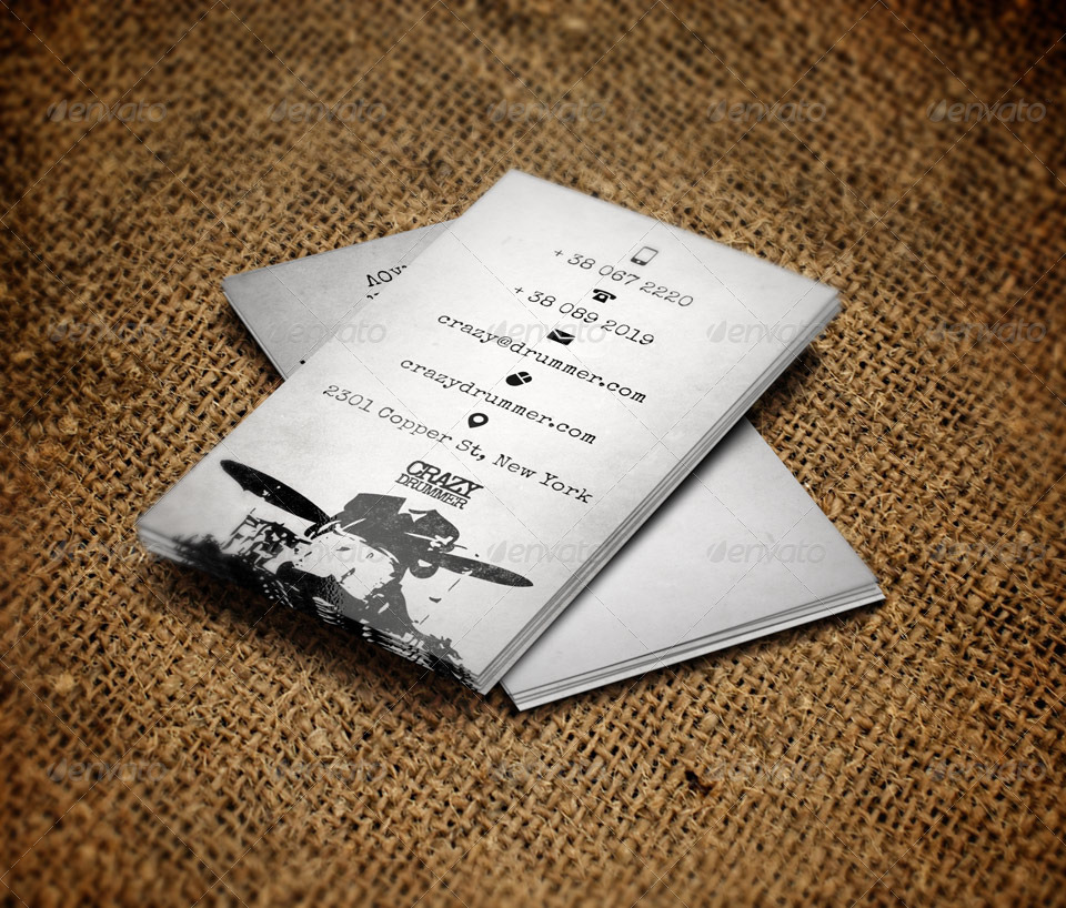 Drummer\'s Business Card by Tovarkov | GraphicRiver