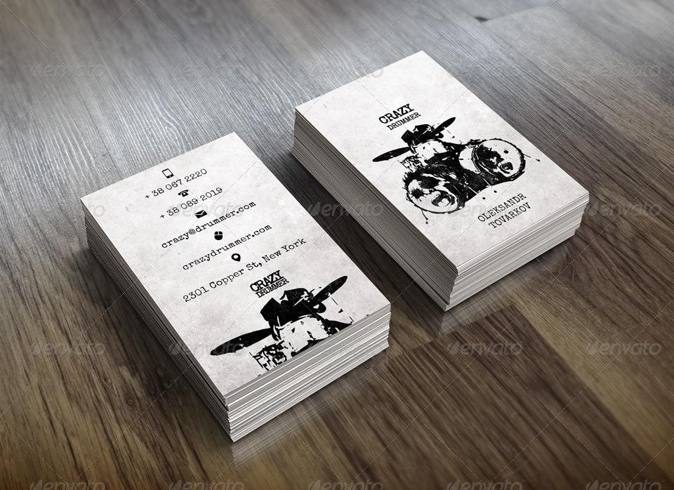 Drummer39s business card by tovarkov graphicriver for Drummer business cards