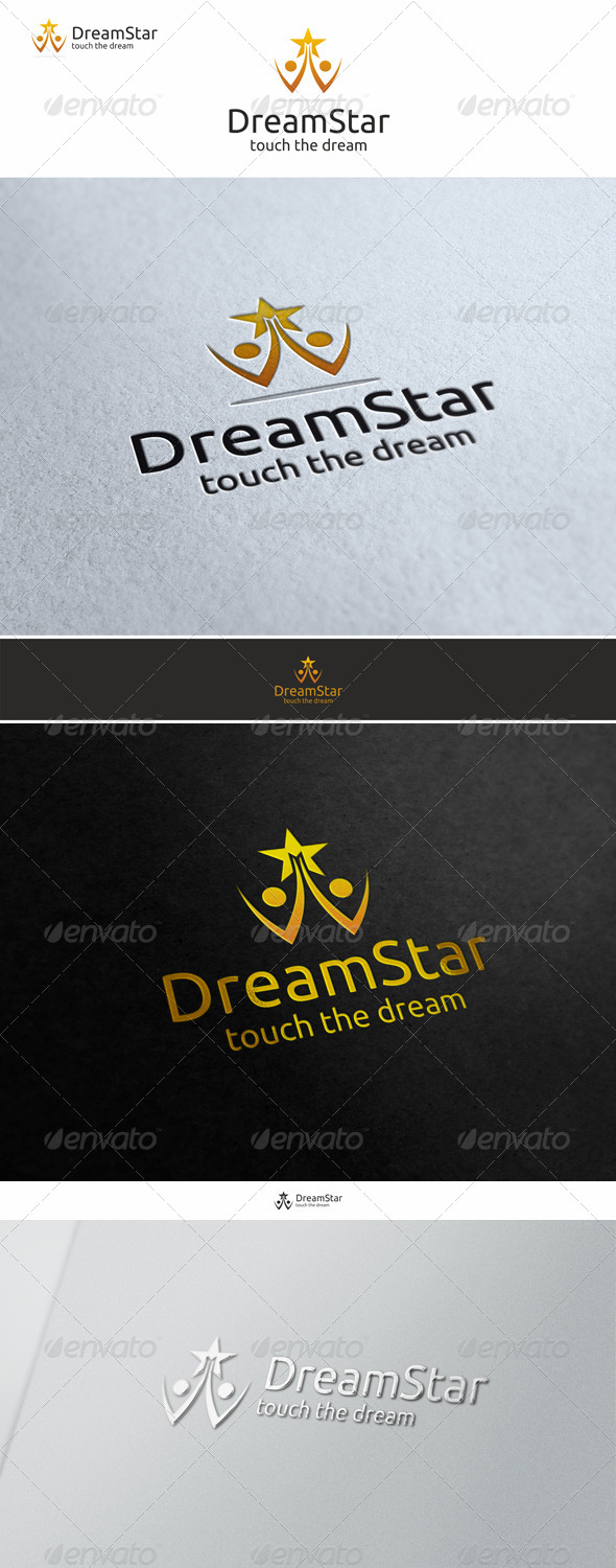 Dream Star - Successful People - Humans Logo Templates