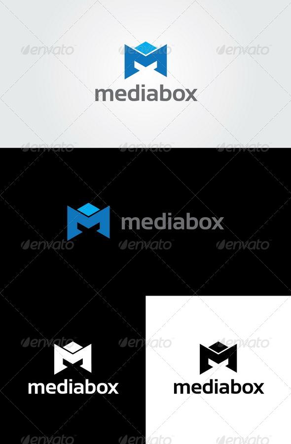 Media Box - Letter M Logo - Letters Logo Templates