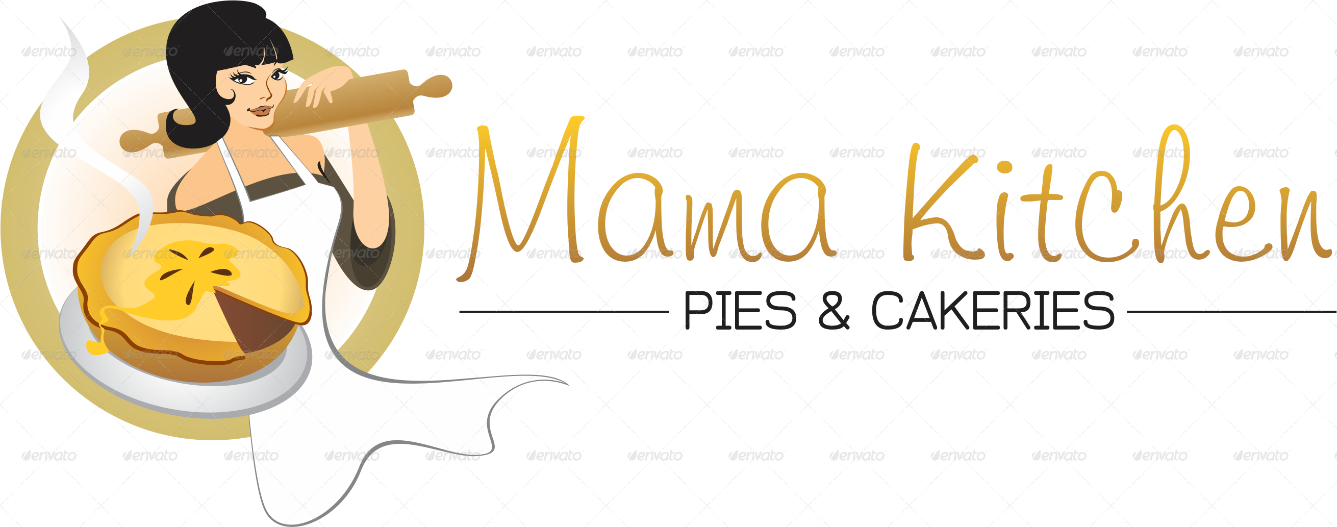 Logo Template Mama Kitchen Pies and Catering by mamarocknroll ...