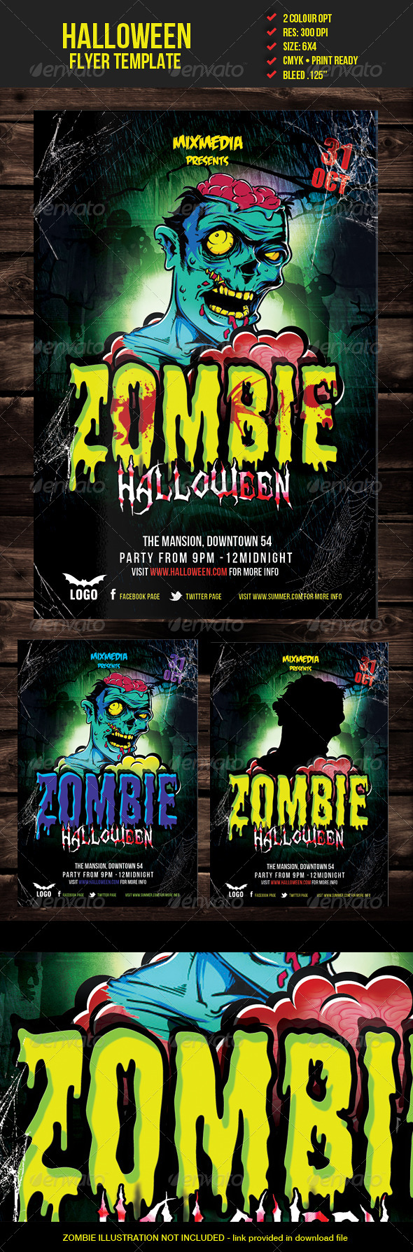 Zombie Halloween Flyer Template - Events Flyers