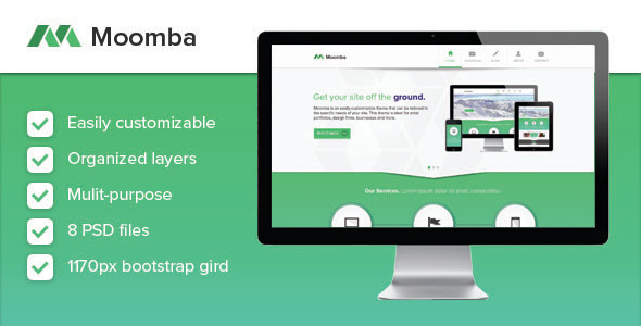 Moomba – Multipurpose PSD Template
