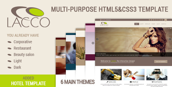 LACCO - Multi-Purpose Template - Corporate Site Templates