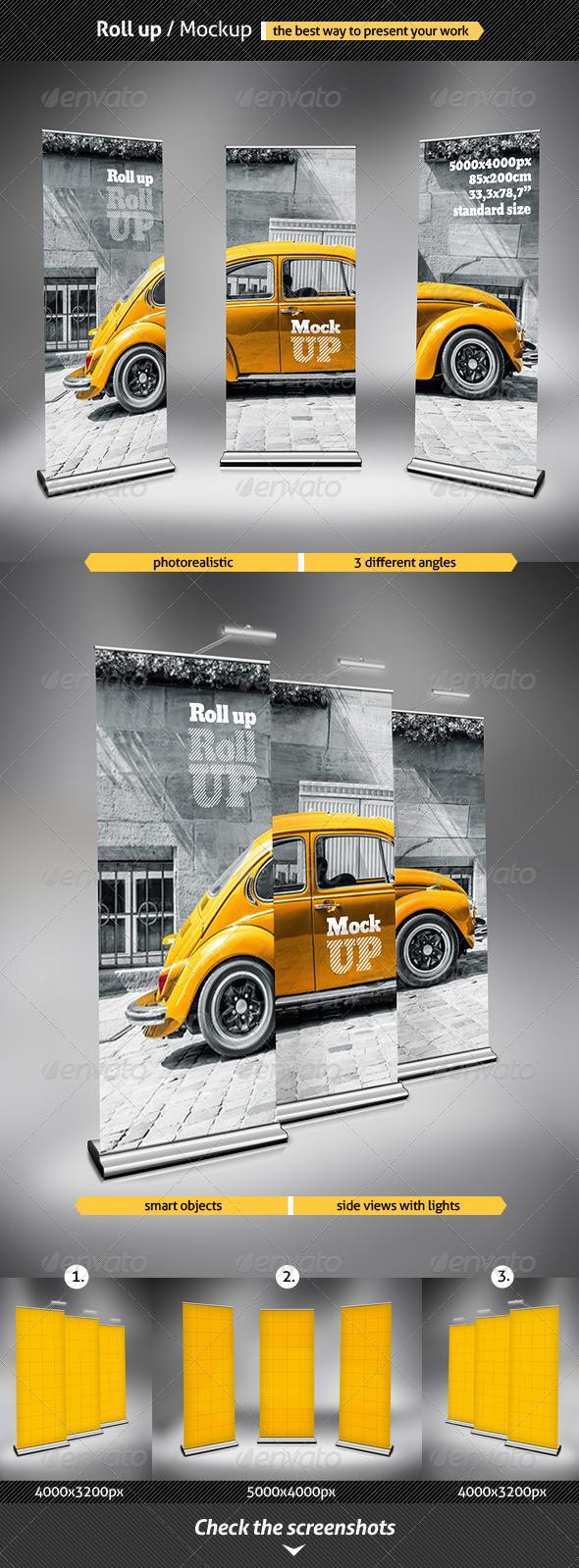 Roll Up - Mockup - Signage Print
