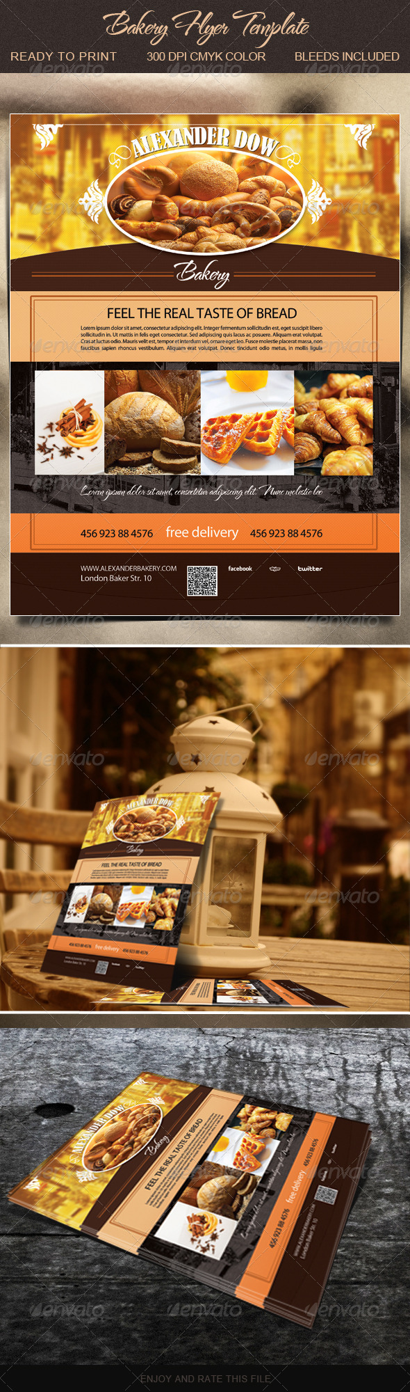 Bakery Flyer Insssrenterprisesco - Bakery brochure template free