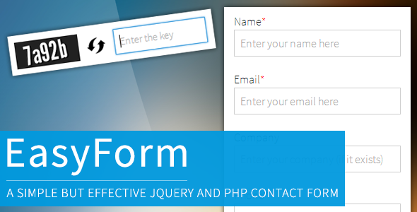 jQuery and PHP Powered Easy Contact Form by Pottrell | CodeCanyon
