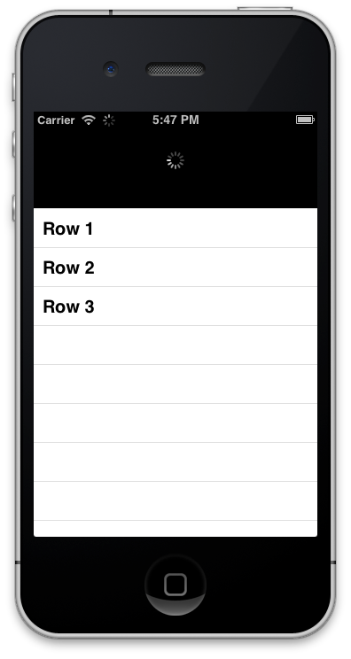 Titanium mobile ios pull2refresh by wmschneider codecanyon for Titanium app templates