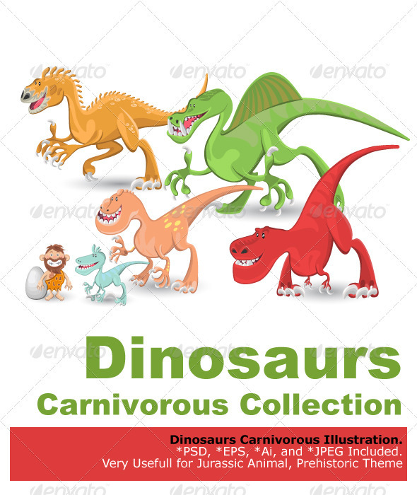 Carnivorous Dinosaurs Collection Set - Animals Characters