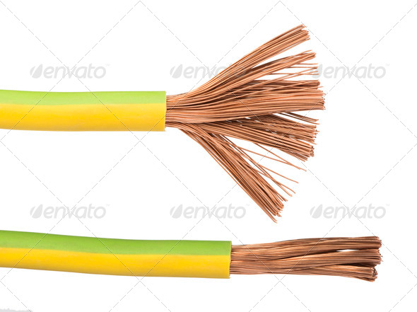 Exposed cables and wires - Stock Photo - Images