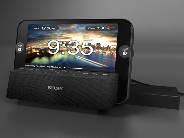 Sony Radio Alarm - 3DOcean Item for Sale
