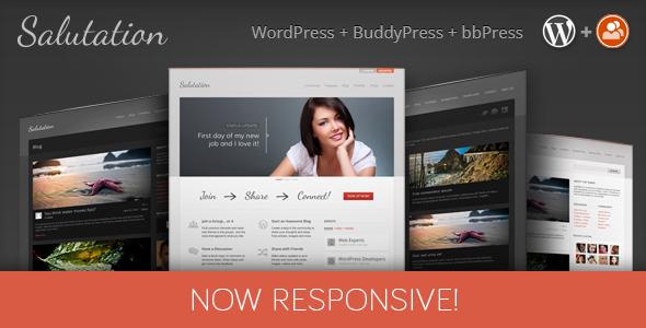 Free Download Salutation Responsive WordPress + BuddyPress Theme Nulled Latest Version