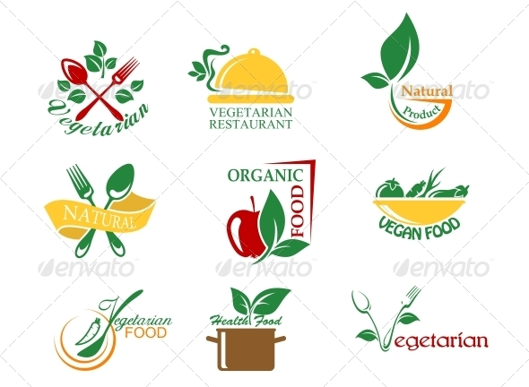 Vegetarian Food Symbols - Food Objects