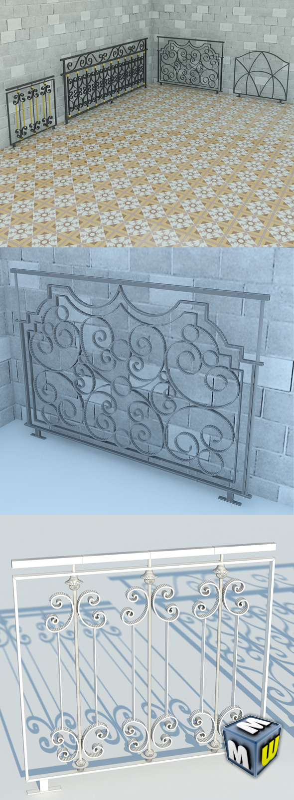 Railing Art Max 2011 - 3DOcean Item for Sale