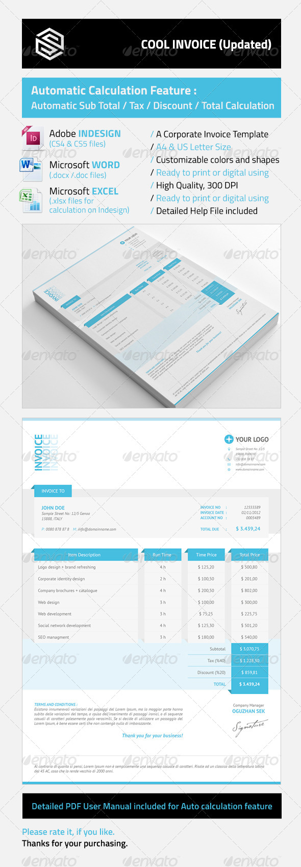 Cool Invoices - Proposals & Invoices Stationery