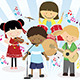 Music Band of Four Little Kids - GraphicRiver Item for Sale