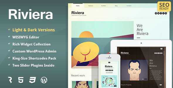Riviera – Portfolio WordPress Theme