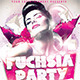 Fuchsia Party Flyer - GraphicRiver Item for Sale