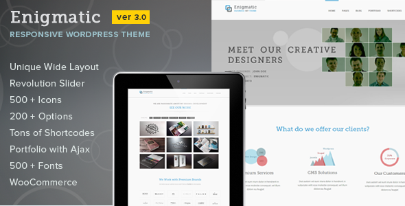 Enigmatic – Responsive Multi-Purpose WP Theme