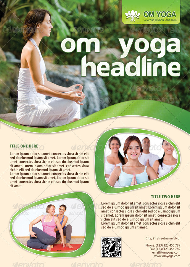 Yoga Flyer Template  By Min  Graphicriver