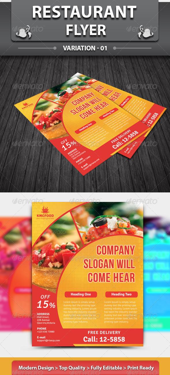 Restaurant Business Flyer | Volume 12 - Restaurant Flyers