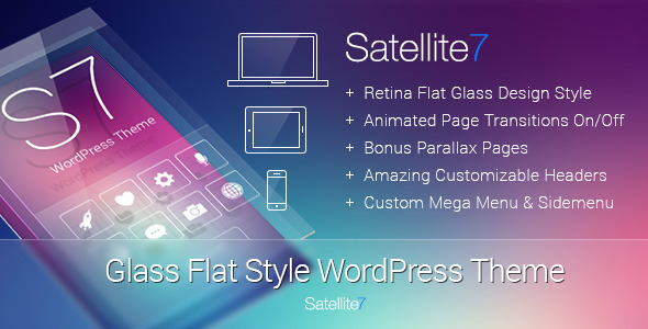 Satellite7 – Retina Multi-Purpose WordPress Theme