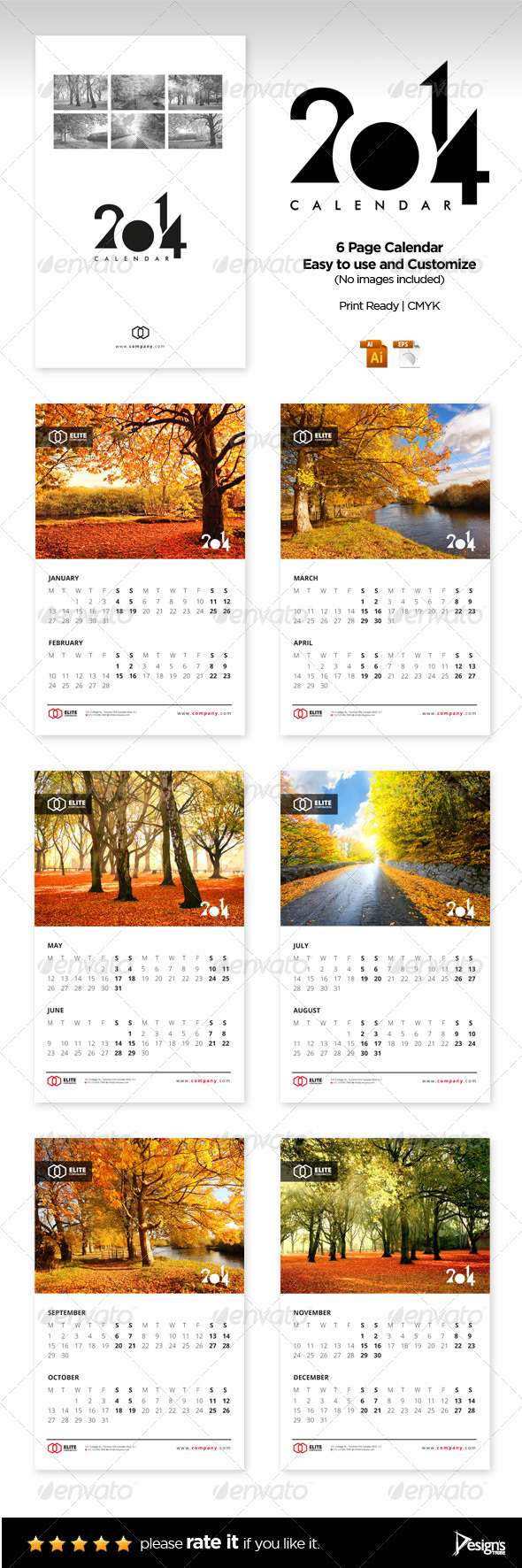 Wall Calendar 2014 Vol 1 - Calendars Stationery