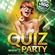 Quiz Party Flyer Template  - GraphicRiver Item for Sale