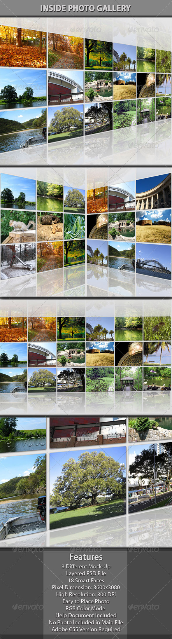 Inside Photo Gallery - Photo Templates Graphics