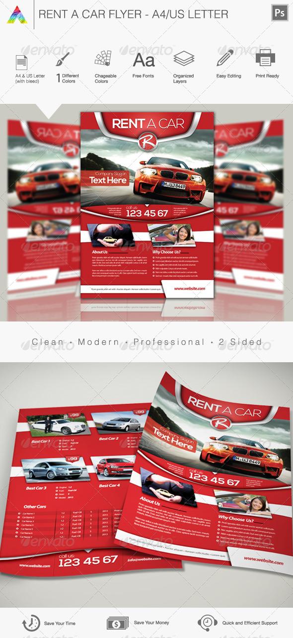 Rent a Car Flyer - Print Templates