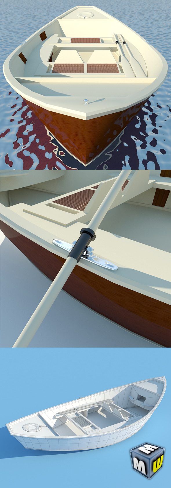 Wooden Boat MAX 2011 - 3DOcean Item for Sale