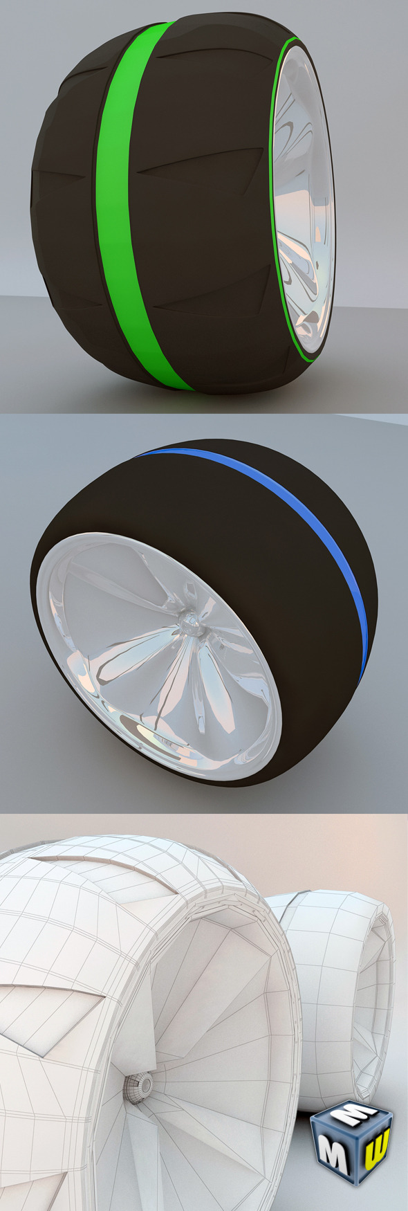 Futuristic Wheel Concept MAX 2011 - 3DOcean Item for Sale