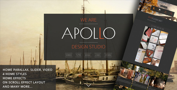 Apollo - Responsive Animated Template - Creative Site Templates