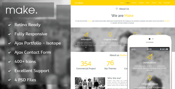 Make – Responsive Parallax Onepage Template