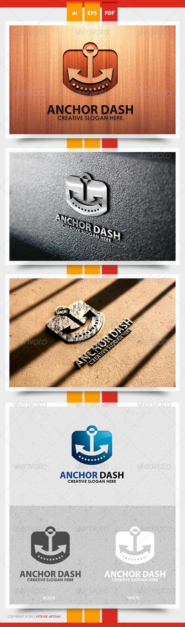 Anchor Dash Logo Template - Objects Logo Templates