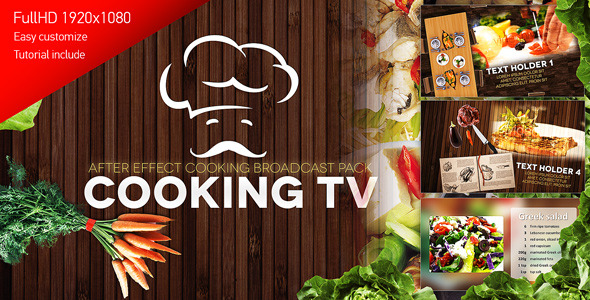 Videohive Cooking TV - After Effects Cook Broadcast Pack 5604604