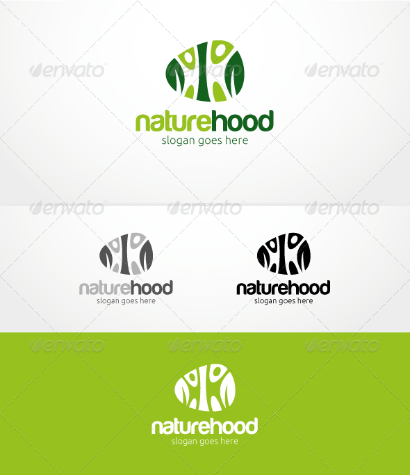 Naturehood - Logo Template - Nature Logo Templates