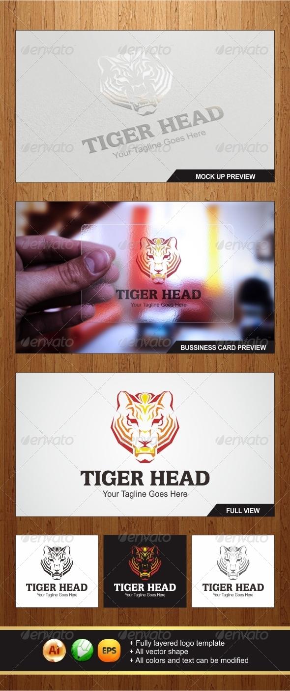 Tiger Head Logo - Animals Logo Templates